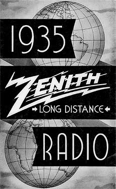 [The 1935 Zenith brochure cover]