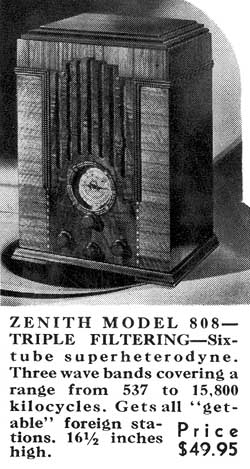 [From a 1935 Zenith brochure]