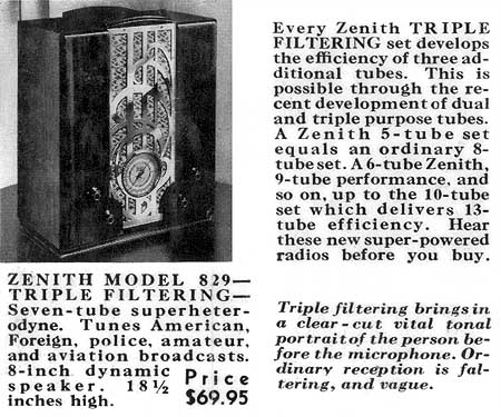 [From the 1935 Zenith brochure]