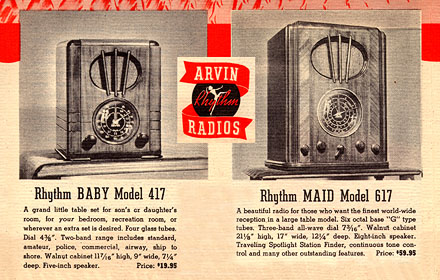 [From a 1937 Arvin brochure]