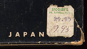 [Price tag from Spooner's]