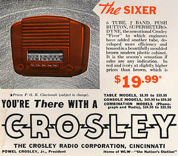 [Crosley advertisement]