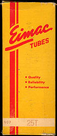 [Eimac vacuum tube box]
