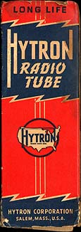 [Hytron vacuum tube box]