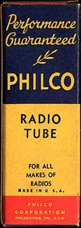 [Philco vacuum tube box]