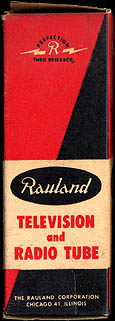 [Rauland vacuum tube box]
