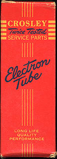 [A red Crosley vacuum tube box]