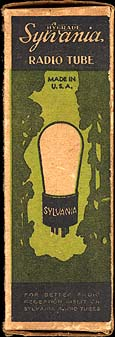 [Sylvania vacuum tube box]