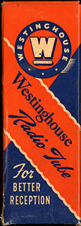 [Westinghouse vacuum tube box]