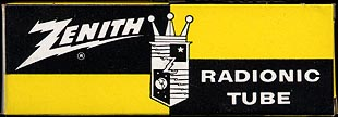 [Zenith vacuum tube box]